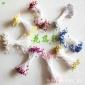 厂家直销水晶花丝袜花丝网花材料批发亮光小珠片花芯各色特价包邮